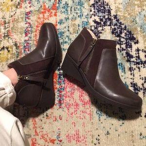 Jambu leather boots brown